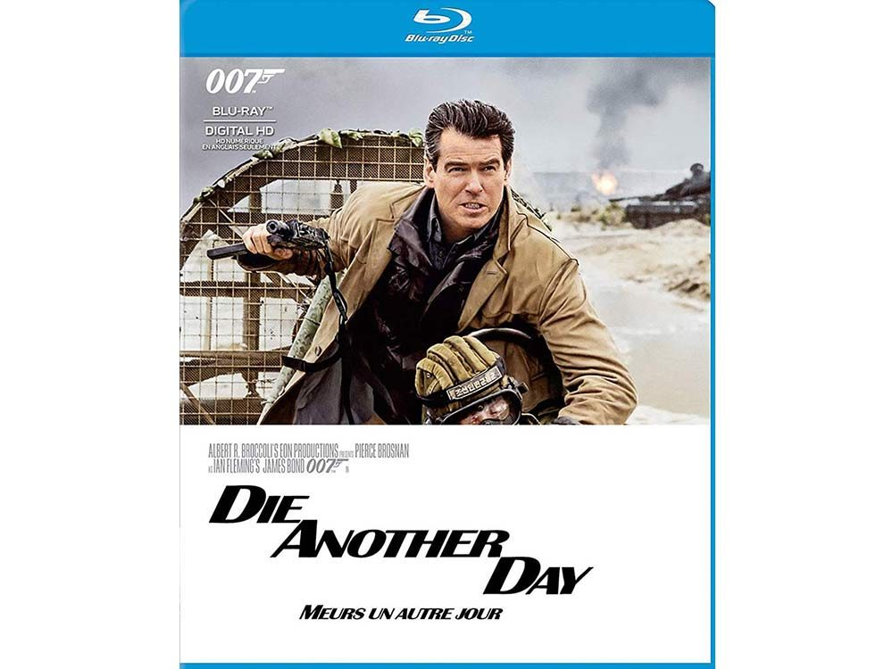James Bond movie Die Another Day blu ray cover