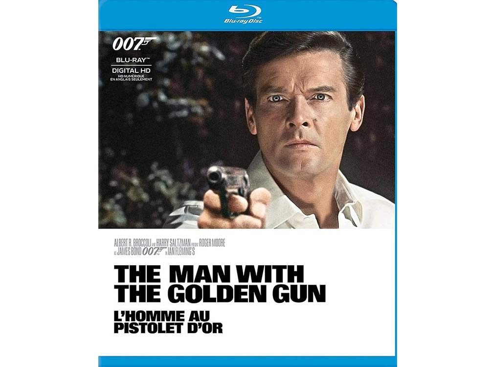 The Man with the Golden Gun blu ray cover