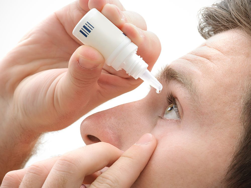 Relieve itchy eyes with artificial tears