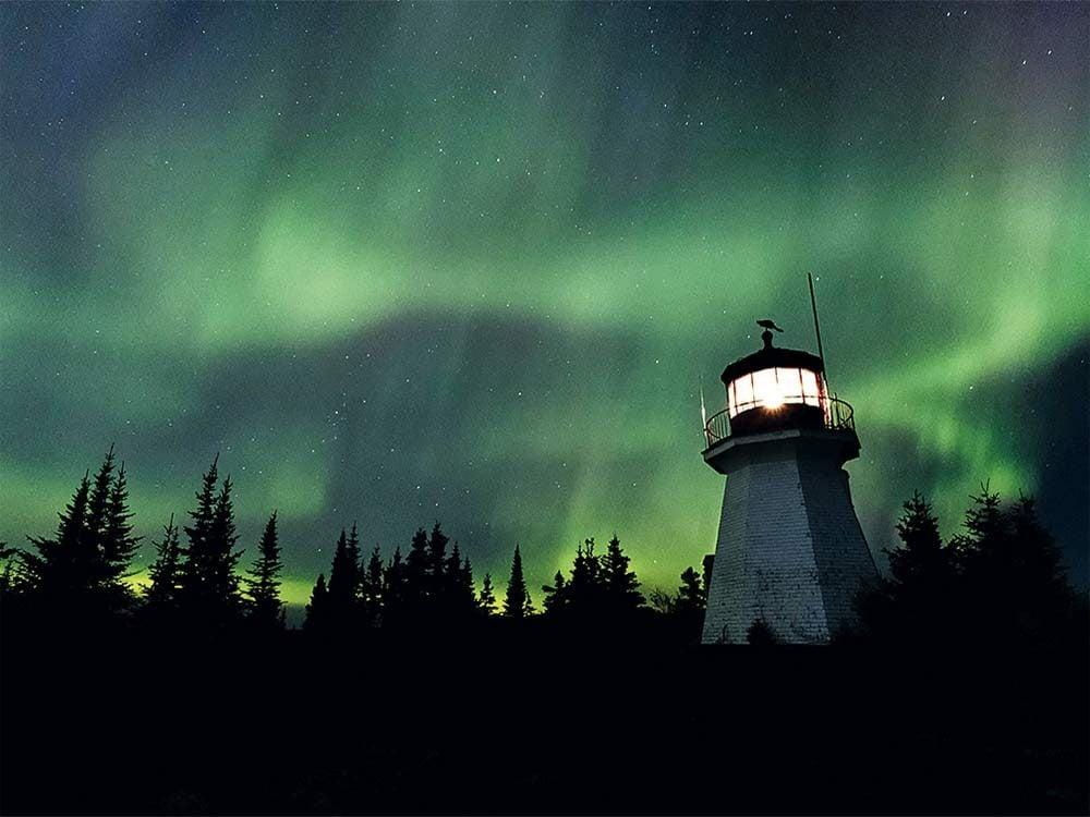Northern Lights (Aurora Borealis) in Slate Islands