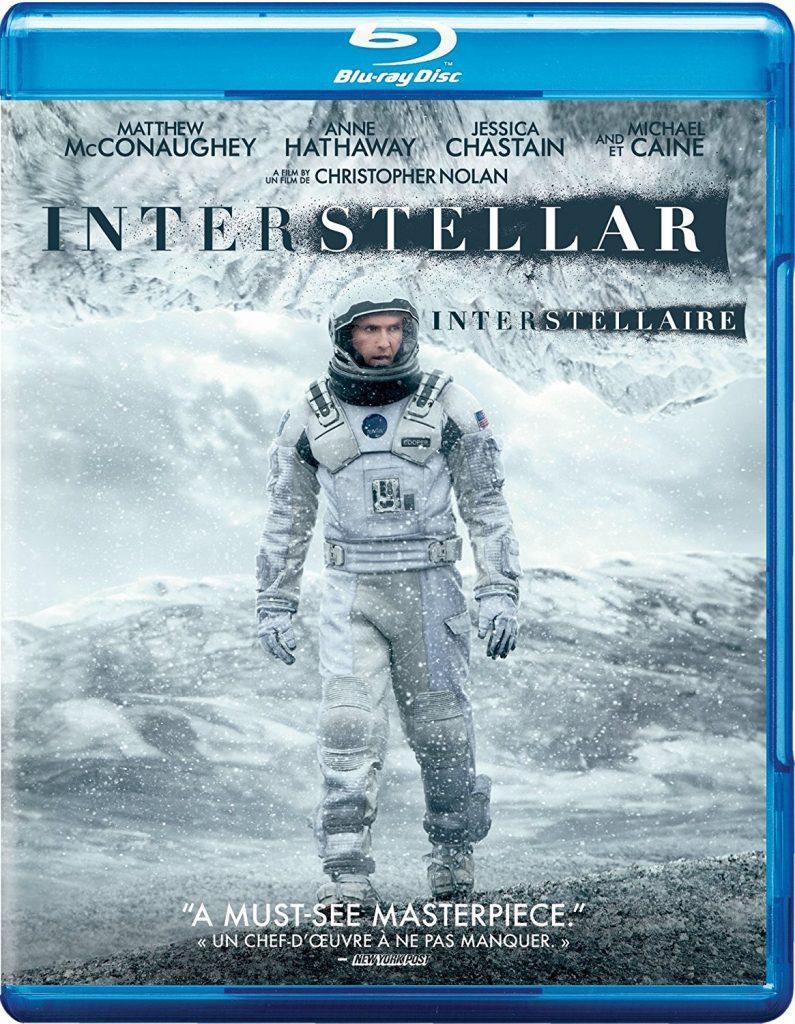 Interstellar Blu ray cover