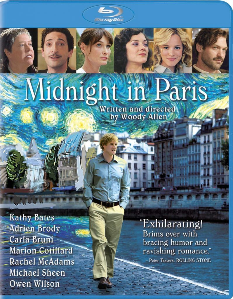 Midnight in Paris blu ray cover