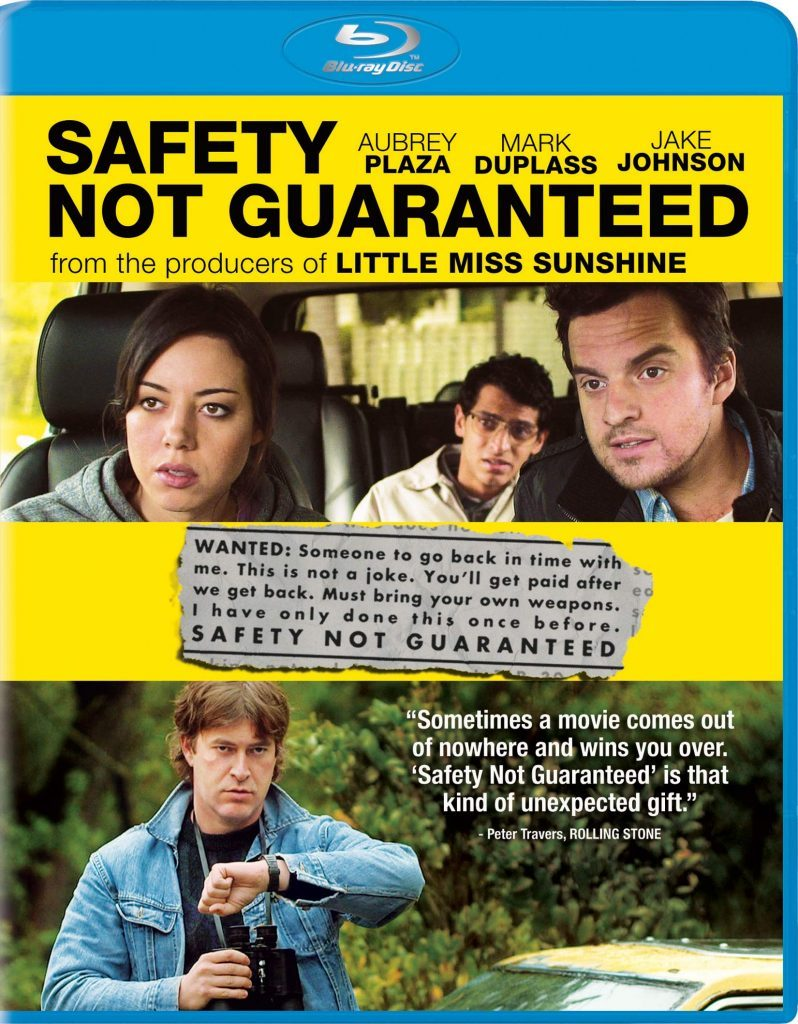 Safety Not Guaranteed blu ray cover