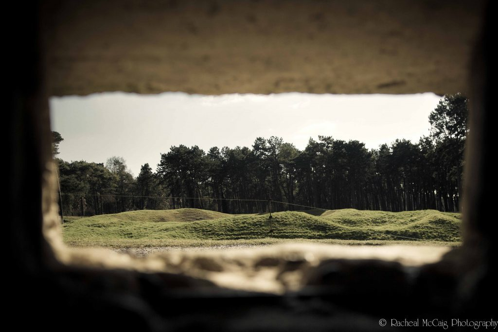 View from bunker at the Canadian National Vimy Memorial