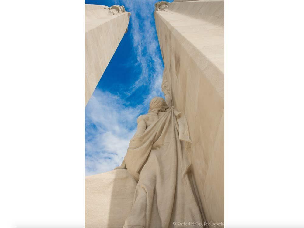Vimy Ridge war memorial in France
