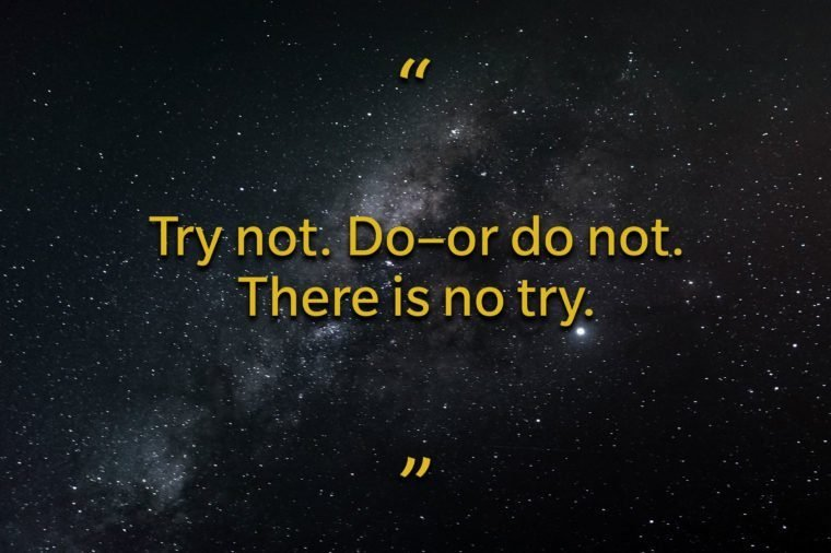 Star Wars quotes - Yoda's pep talk