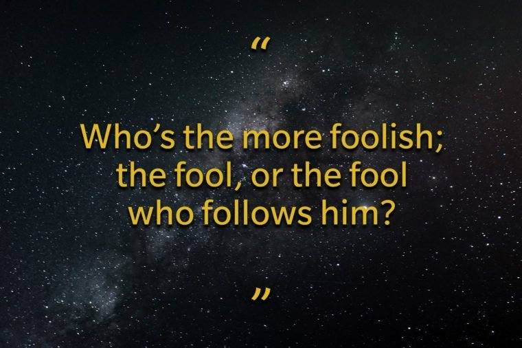 Star Wars quotes - Who's more foolish