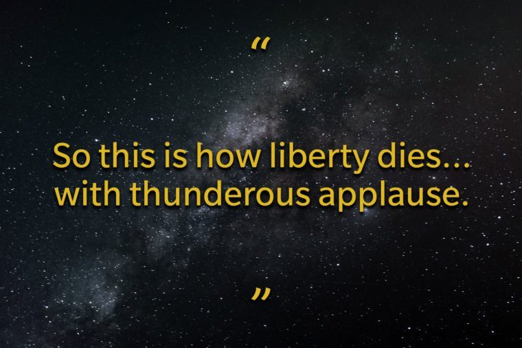 Star Wars quotes - So this is how liberty dies