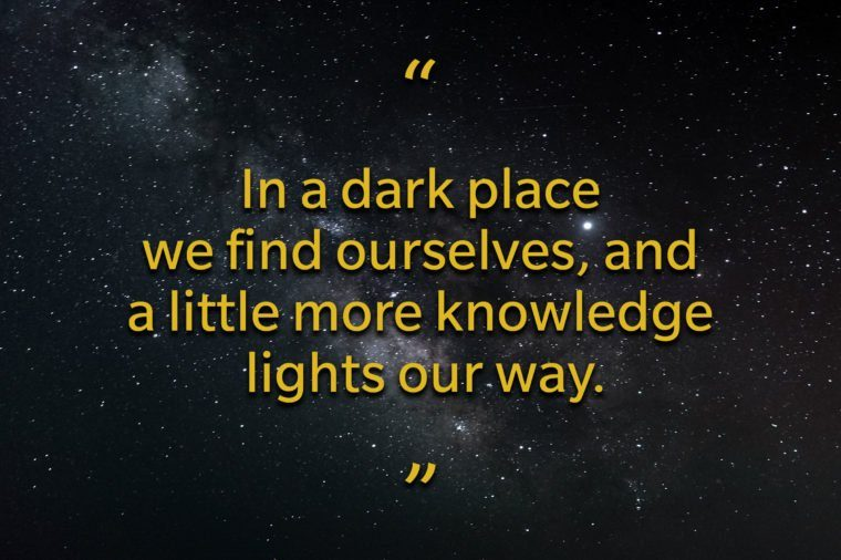 Star Wars quotes - in a dark place we find ourselves