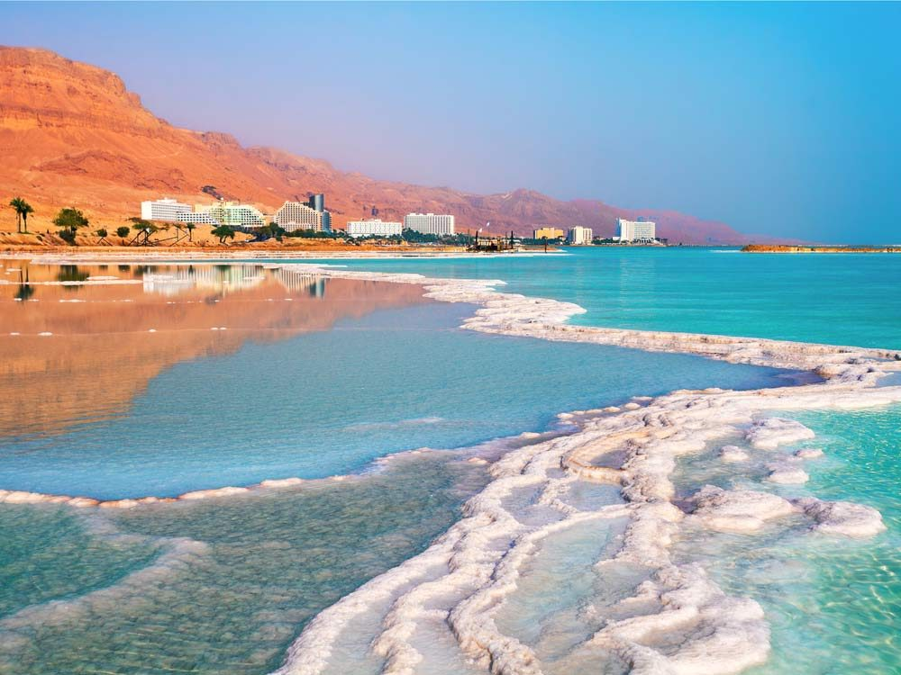 The Dead Sea on the Israeli Coast