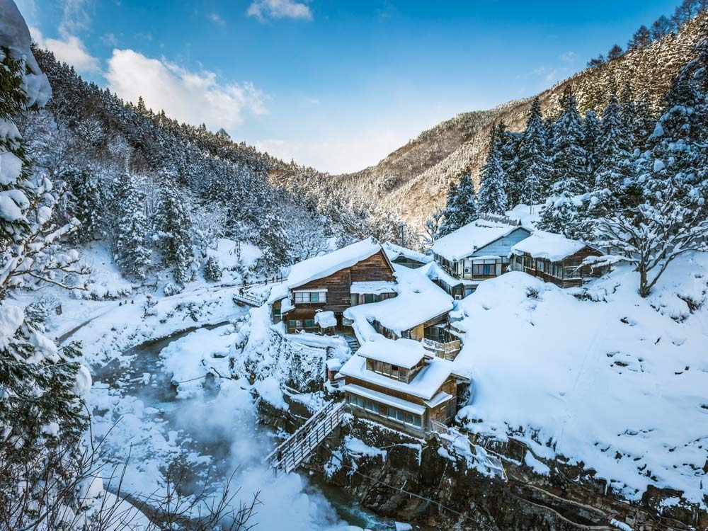 Spring Baths in the Japanese Alps