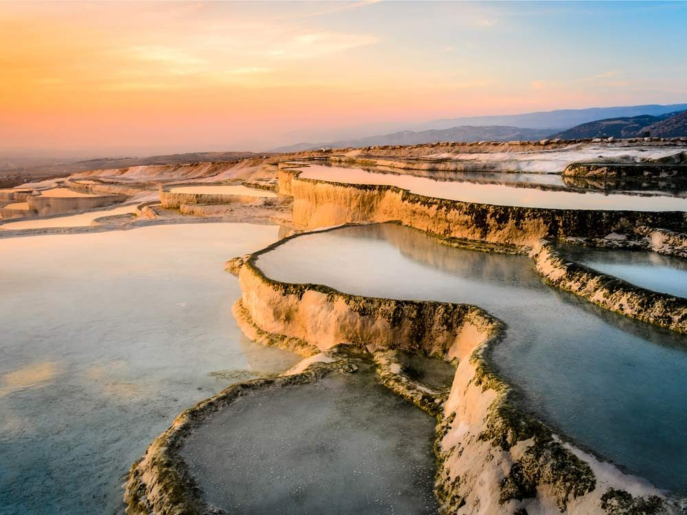 Pamukkale in Denizli Province, Turkey