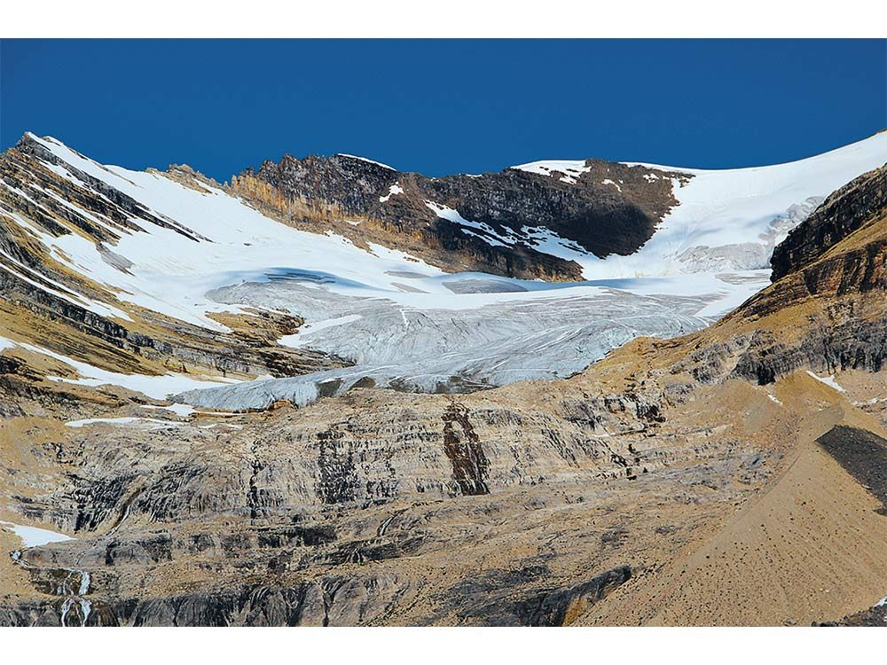 Emerald Glacier perched high on the President Range