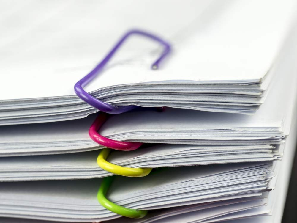 Documents and paperwork