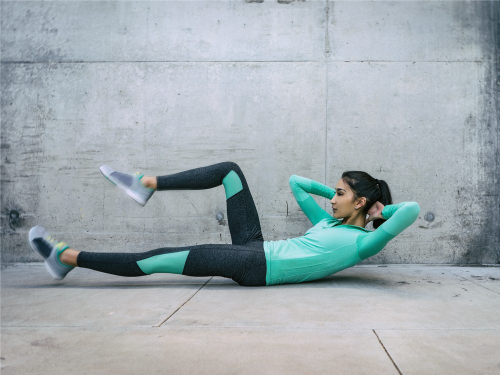 The McGill curl is an exercise that flattens your abs without crunches