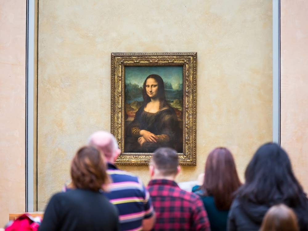 Mona Lisa painting at the Louvre