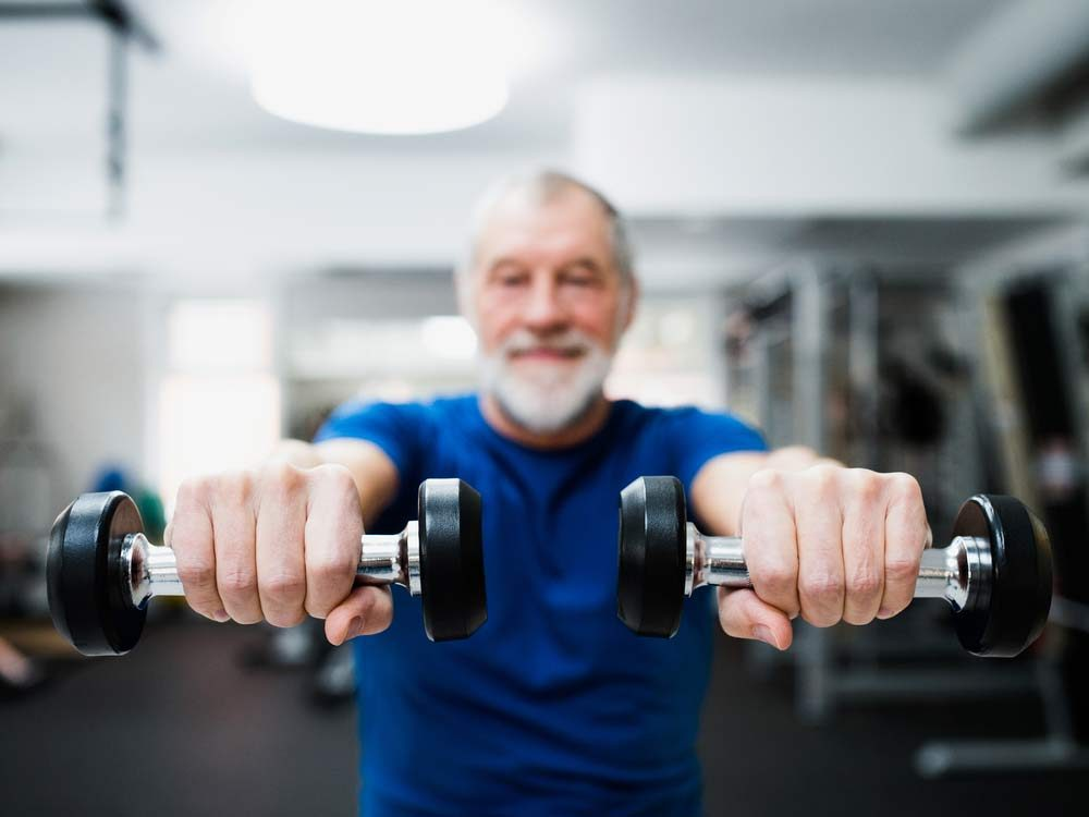 Muscle mass declines over time