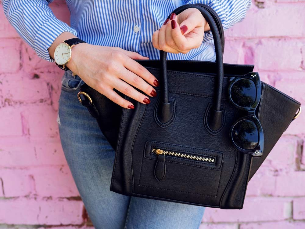 Stylish black handbag