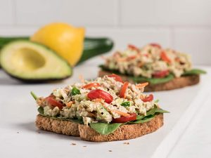 Open-Faced Avocado Tuna Sandwich
