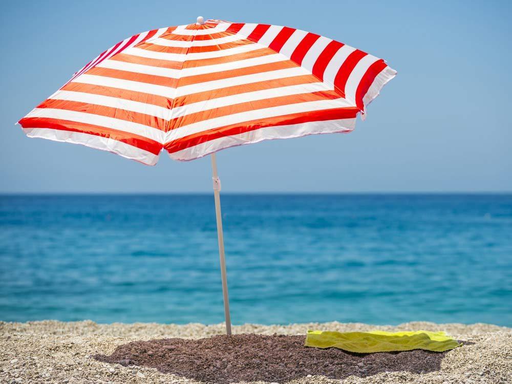Shade umbrella on beach