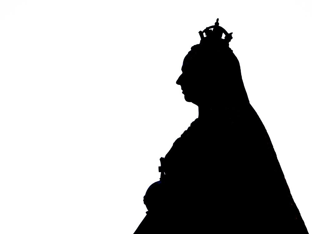 Queen Victoria in silhouette