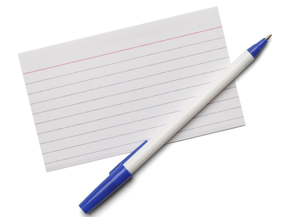 One of the best ways to quit smoking is to write all your reasons on an index card