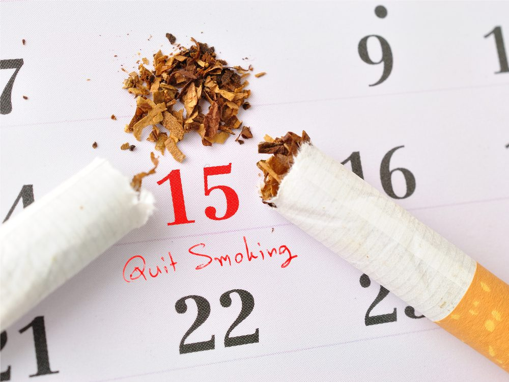 One of the best ways to quit smoking is setting a quit date