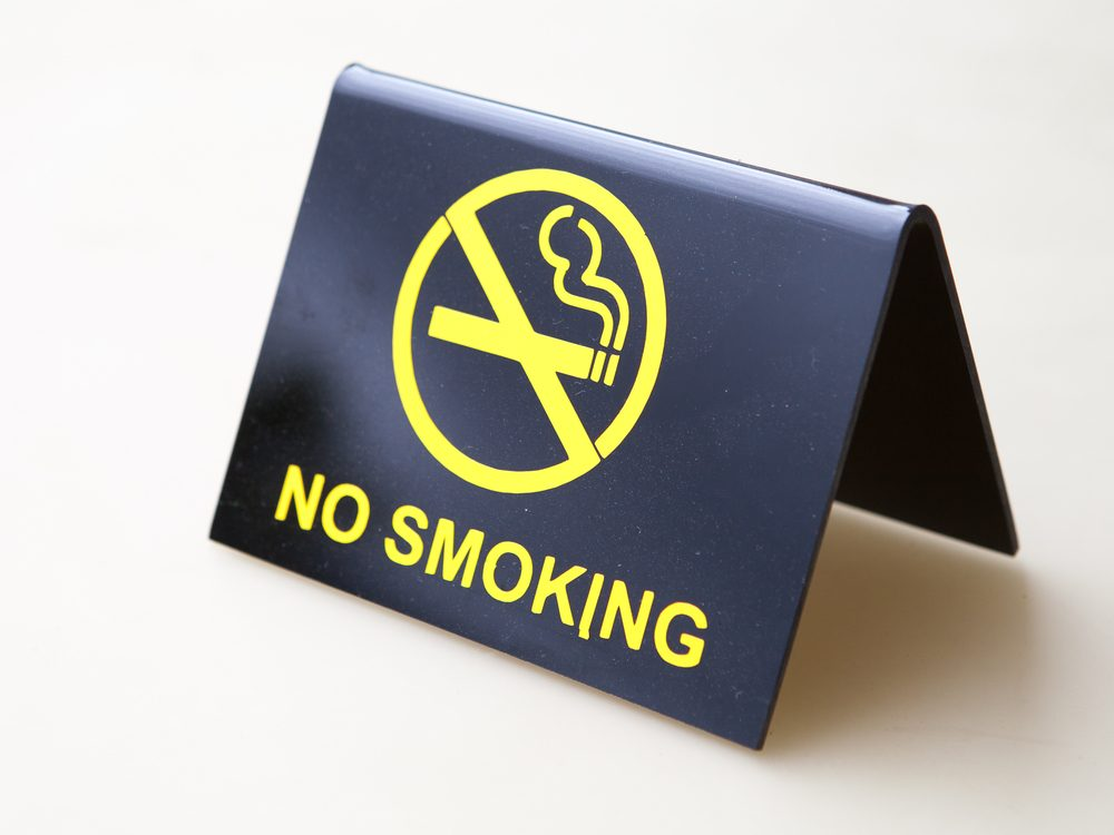 One of the best ways to quit smoking is to create a smoke-free zone