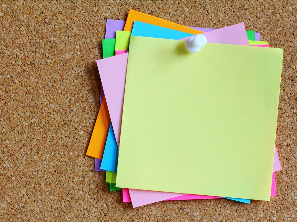 People with impressive memory use Post-It-notes
