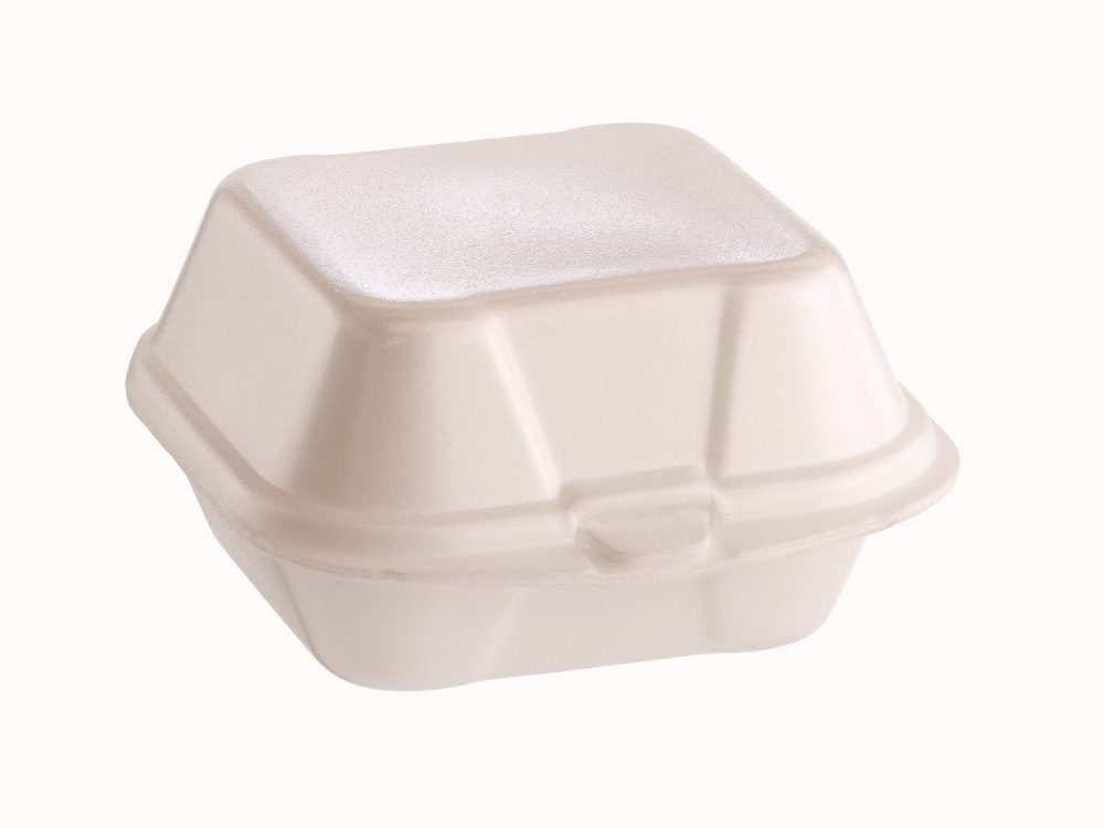 You should really never microwave styrofoam containers