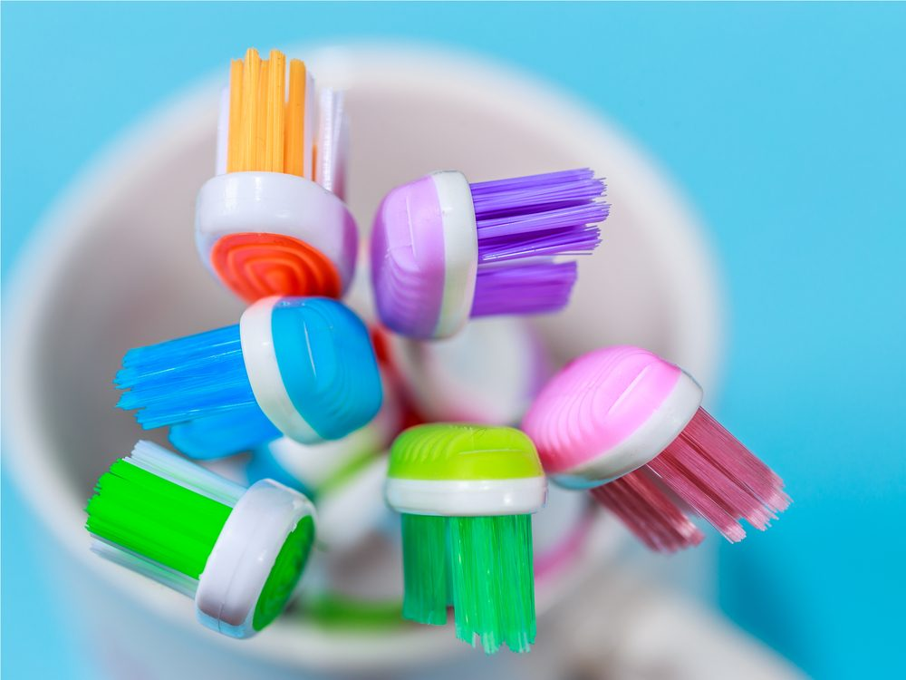 Chucking your toothbrush is a tip for healthy white teeth
