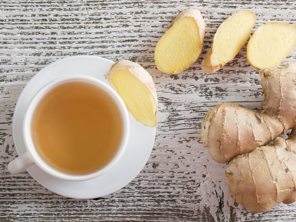 Mint or ginger tea are surprising home remedies for constipation.
