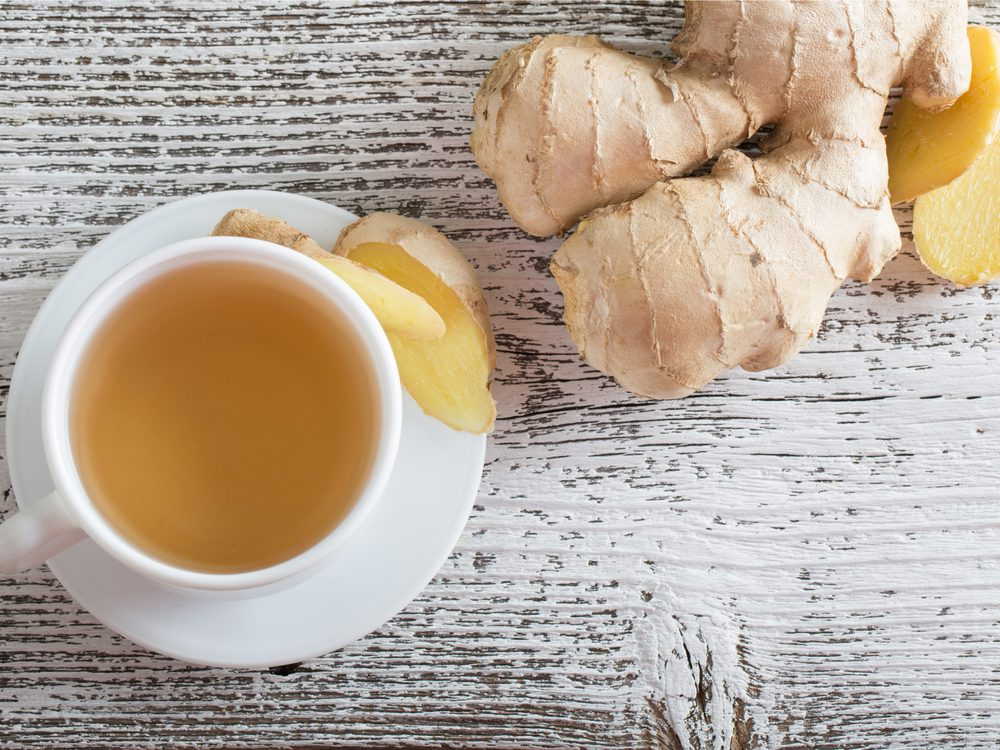 Use ginger root tea as a headache home remedy