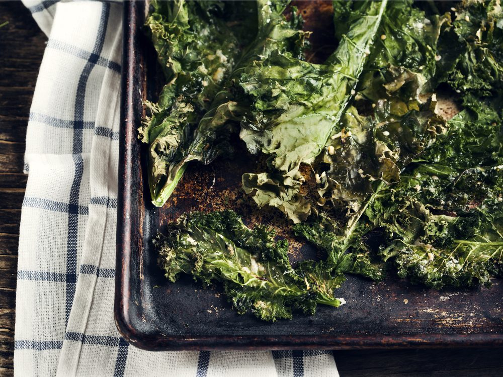 Crispy kale chips are a no-guilt healthy snack