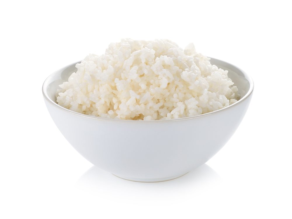 Never buy white rice