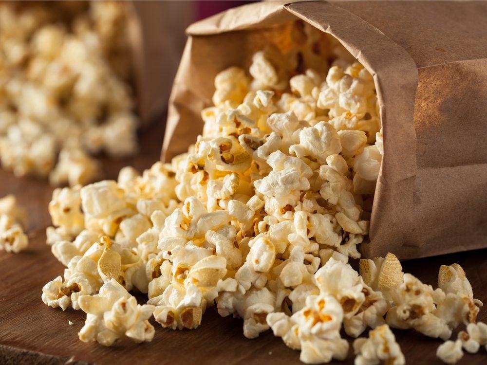 Popcorn is a no-guilt healthy snack