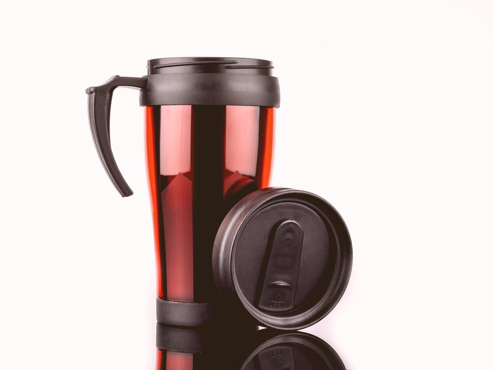 You should really never microwave travel mugs