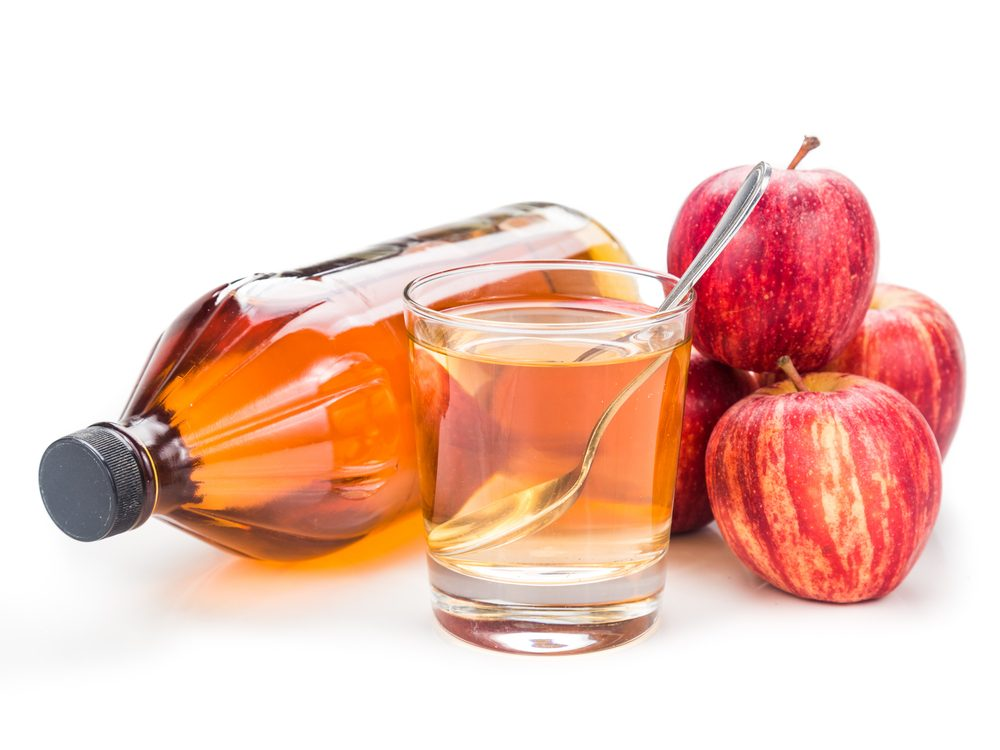 Apple cider vinegar is a natural upset stomach home remedy.