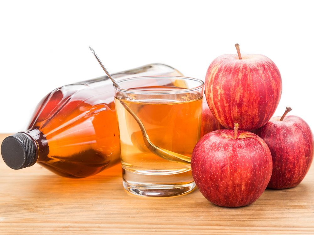 Apple cider vinegar is a natural sore throat remedy.