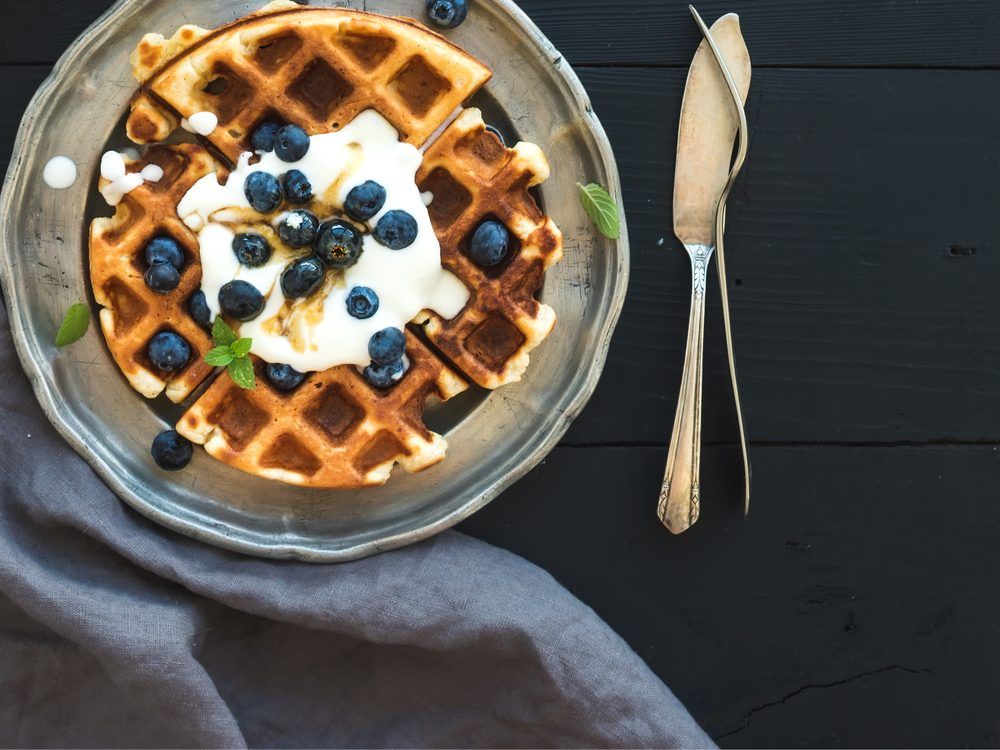 A waffle is a no-guilt healthy snack