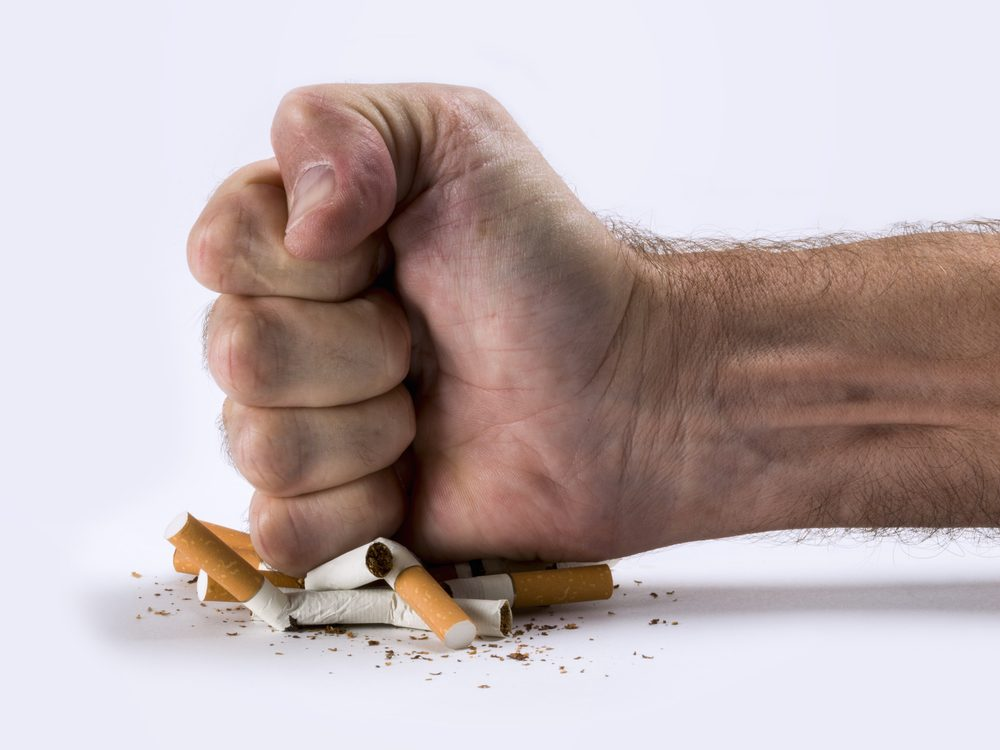 One of the best ways to quit smoking is to not give up
