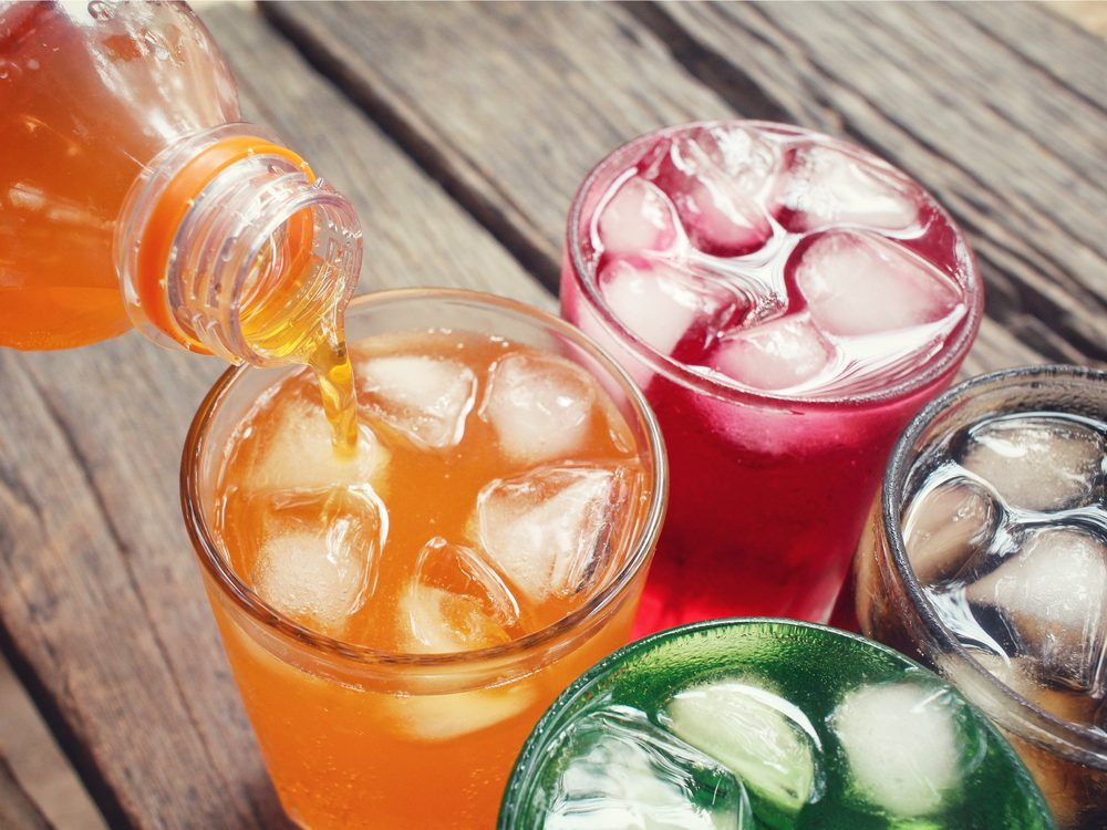 Soda and sugary fruit drinks are not a good drink choice for diabetics