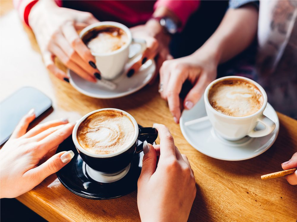 One of the best ways to quit smoking is to switch to decaf coffee