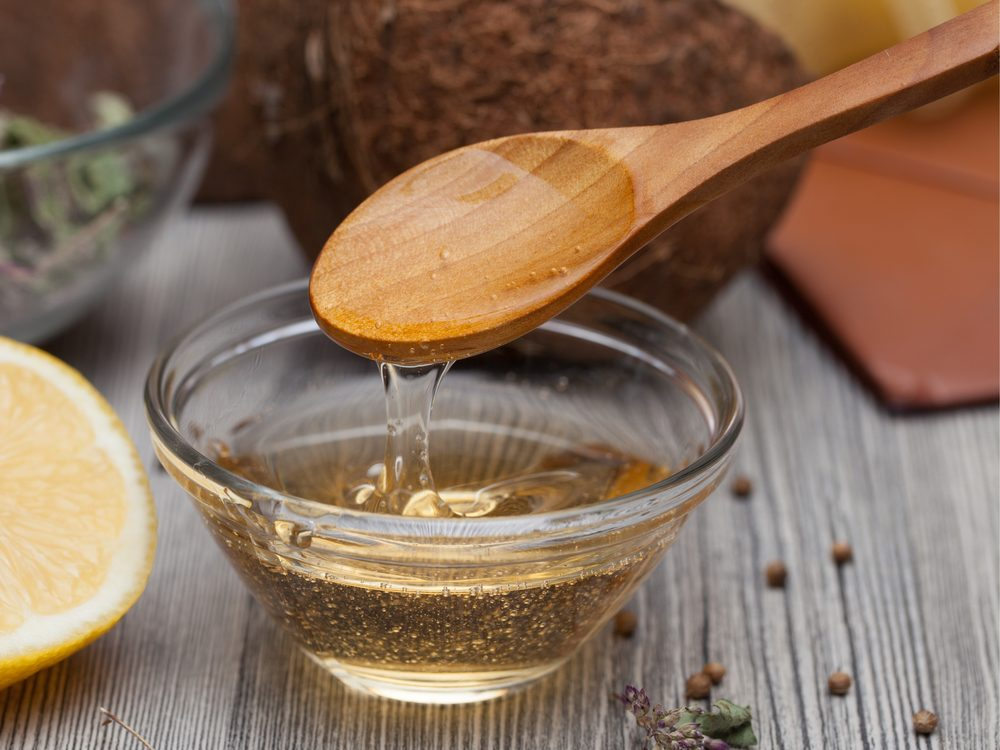 A natural gargle sore threat remedy is castor oil
