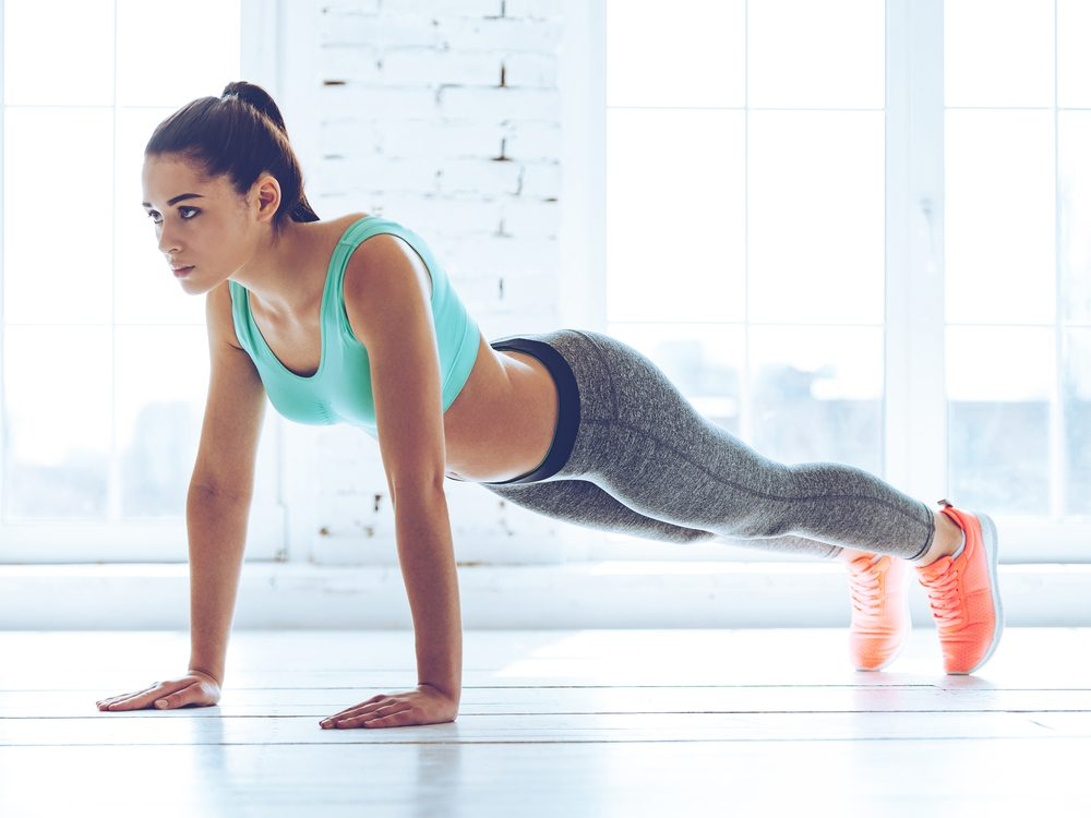 The plank is an exercise that flattens your abs without crunches