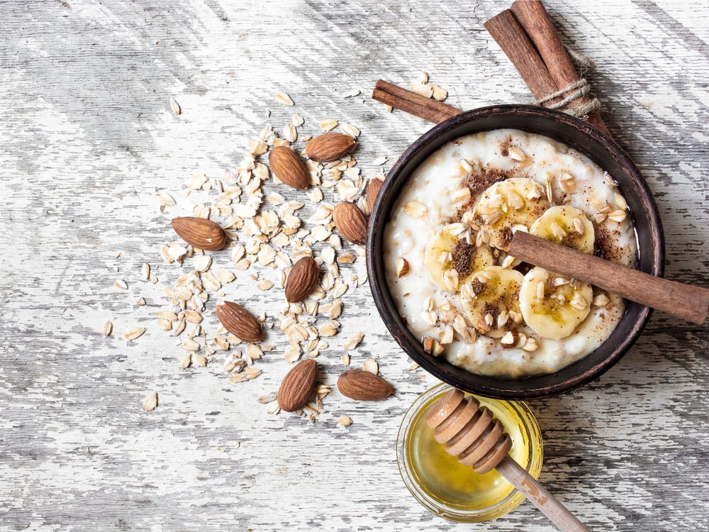 Oatmeal is a no-guilt healthy snack