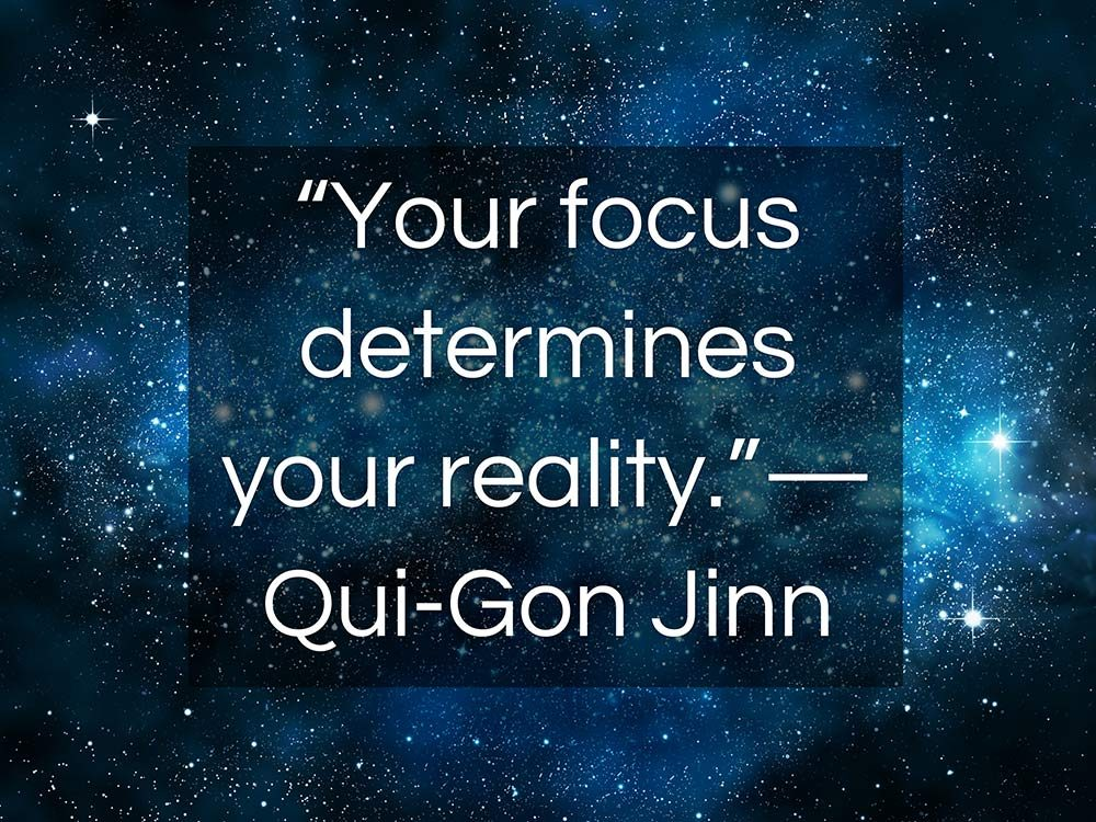 Qui-Gonn Jinn quote from Star Wars