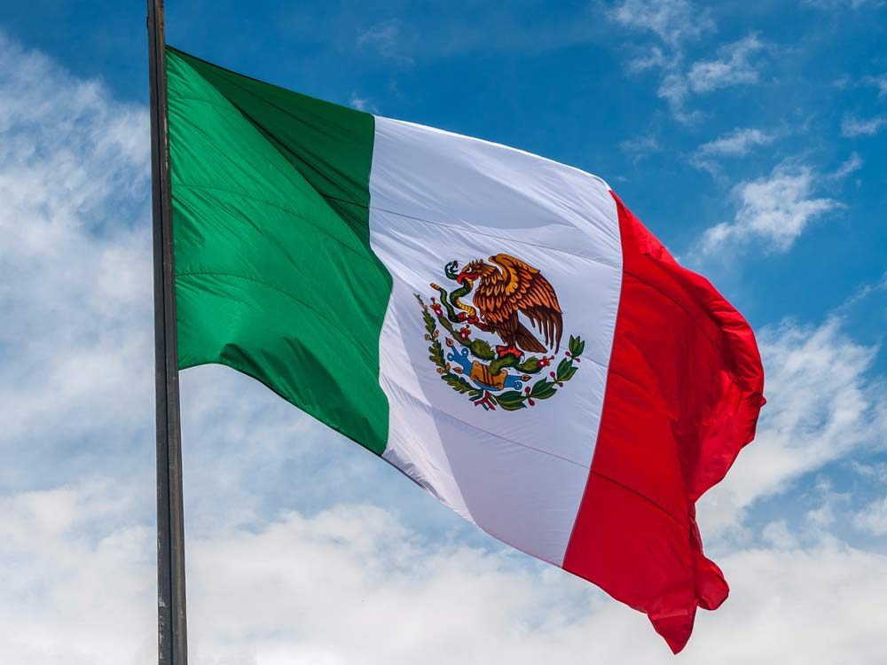 Mexican flag for Cinco de Mayo