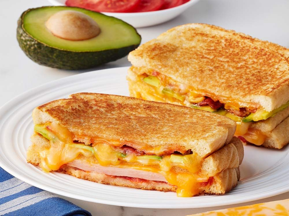 Turkey, bacon and avocado club