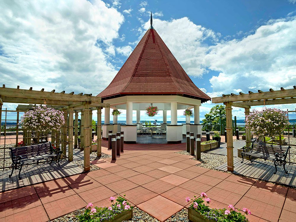 Algonquin Resort rooftop patio